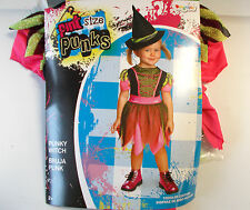 Punky Witch Pint Size Punks Toddler Costume Dress 2T 3T-4T NIP