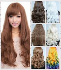 Fashion Women Wavy Curly Long Sexy Ladies Cosplay Party Heat Resistant Full Wigs