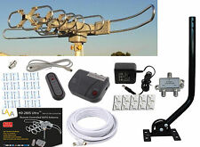 LAVA HD 2805 HDTV DIGITAL ROTOR OUTDOOR TV ANTENNA CABLE Install Kit w/ J-Pole