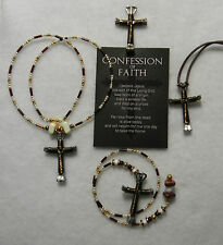 Horseshoe Nail Cross Jewelry-Cross is Bronze Square Wire-UNIQUE$$PRICE REDUCED$$
