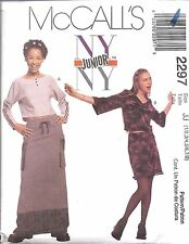 UNCUT McCalls Sewing Pattern Junior Teen Girls NY NY Skirts Tops 2297 OOP SEW FF