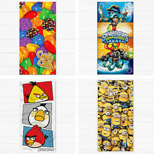 Childrens Boys Girls Game TV Film Character Beach Bath Cotton Towel Official