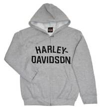Harley-Davidson Men's Hooded Sweatshirt Jacket, H-D Hoodie H-D Gray 30296640