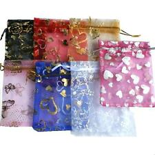 Organza Wedding Favour Party Gift Bag Jewellery Pouch (Set of 5 10x12cm)