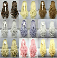 New Women's Long Curly Wavy Hair Party Costume Wig Fashion Cosplay Wig Full Wigs