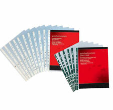 A4 *GLASS* CLEAR POCKETS STRONG HEAVY DUTY OFFICE STATIONERY SUPPLIES ©50/70 MIC