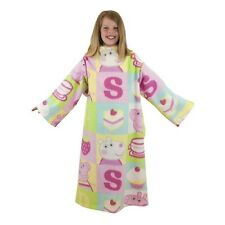 Peppa Pig Childrens /Kids Girls Cupcake Warm Sleeved Fleece Blanket /Snuggie