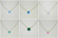 WHOLESALE LOTS Opal Star of David 14kt Gold Filled Chains Blue Green White Pink