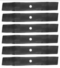"""Set of 6 John Deere 48"""" Lawn Tractor Mower Blades GX21784 GY20852 FREE Shipping"""