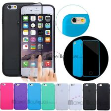 "Soft Silicone TPU Gel Flip Case Cover For Apple iPhone 6 4.7"" & 6 Plus 5.5"""
