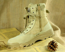 summer special army soldier mens lace up zipper desert fighting short boot shoes
