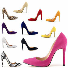 Womens Lady Sexy Pointed Toe Stiletto High Heel Party Pumps Court Shoes US 4-11