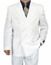 SHARP 2pc DOUBLE BREASTED DB MEN DRESS SUIT WHITE 36S-48L tb06