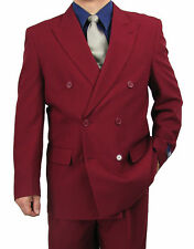 SHARP 2pc DOUBLE BREASTED DB MEN DRESS SUIT CHOCOLATE 50R-62L tb06