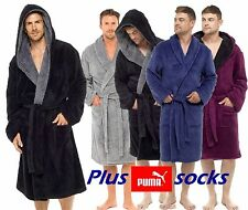 RRP £29.99 MENS 100% POLYESTER FLEECE BATHROBE DRESSING GOWN ROBE