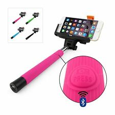 Monopod Selfie Stick Wireless Telescopic & Bluetooth Remote Mobile Phone Holder