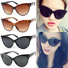 Fashion Womens Retro Vintage Shades Oversized Designer Cat Eye Sunglasses