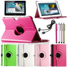 Rotating PU Leather Case Cover for Samsung Galaxy Tab 2 10.1 P5100 + USB Cable