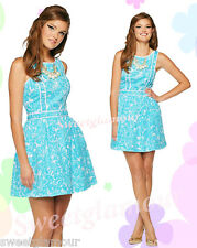 $188 Lilly Pulitzer Becky Shorely Blue She's A Fox Print Dress 14