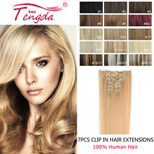 7pcs clip in remy human hair extension full head straight 100g 120g 140g 160g