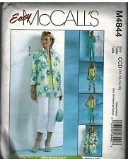 4844 Vintage McCalls Sewing Pattern Misses Shirt jacket Top Skirt Pants Easy OOP