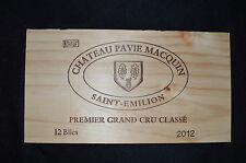 CHATEAU PAVIE MACQUIN Wine Crate PANEL SAINT EMILION Bordeaux France GRAND CRU