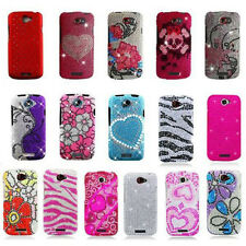 Bling Gem Hard Cover Snap On Case For HTC ONE S T-Mobile