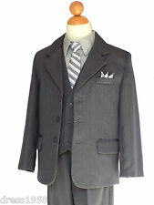 BOY TEEN GRAY/ LIGHT GRAY, PARTY, RING BEARER, RECITAL SUIT, Sz: 5 to 20