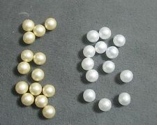 Loose no-hole bead GLASS Pearl ball cream or white Select quantity, size & color