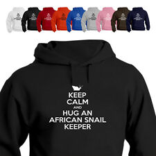 Keep Calm And Hug An African Snails Gift Parody Hoodie
