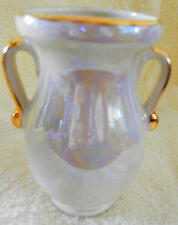 Irridescent Lustreware with Gold VASE Lovely!!