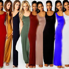NEW! Stylish Women Girls Vest Cotton Stretch Casual Summer Sexy Long Maxi Dress