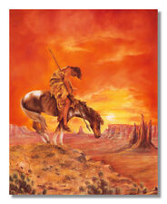 End Of The Trail American Indian On Horse Wall Picture