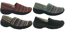 Ladies Shoes Multi Coloured Slip On Elastic Shoe Casual Flats Size 6-10  Comfy