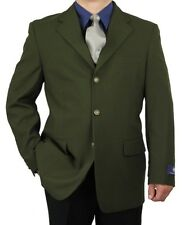 SHARP MEN 3B DRESS BLAZER OLIVE 50R-62L tb27