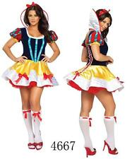 Disney Snow White Princess Costume Halloween Adult Deluxe Fancy Dress New