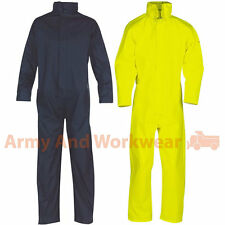 Rubberized Flex Waterproof Coverall Overall Boilersuit Work Rain Weather Mens