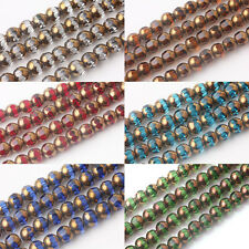 20/40Pcs Rondelle Faceted Crystal Glass Finding Charms Loose Spacer Beads 8mm