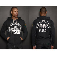 Roots of Fight Iron Mike Tyson 1988 Zip-Up Hoodie - Black