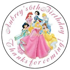 DISNEY PRINCESS Birthday Party Favor Personalized Labels Stickers