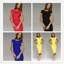 Womens Casual Dress Bodycon Party Cocktail OL Work Business Slim Pencil Dress KB