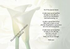 A4 Personalised Poem To A Very Special Auntie - Aunty - Aunt Great Gift Keepsake