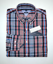 NWT Men's Tommy Hilfiger Casual Long-Sleeve Shirt, Blue, Red, White M, L