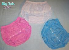 """Adult Baby """"SNAP CROTCH"""" vinyl diaper cover  pants  *Big Tots by MsL*"""