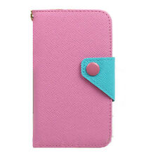 Pink luxury Wallet Card SLOT multifunction Full Cover Case For smart phone