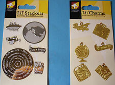 NEW TRAVEL or VACATION LIL' CHARMS LIL' STACKERS Plane Trip  * Your Choice * ATD