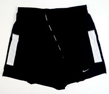 Nike Dri Fit Black & White Brief Lined Running Shorts Mens NWT