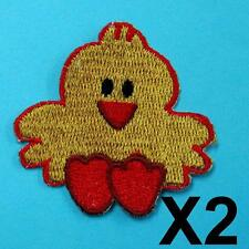 Chicken Pet Iron on Sew Patch Cute Applique Badge Embroidered Motif Biker Baby