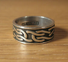 Celtic Knot Ring Classic Sterling Silver Waldeck WJ USA Made Clan Jewelry Simple