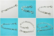 925 Sterling Silver 4mm Flat Round Chain EXTENDER with Two Lobster Claw Clasps